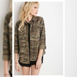 Military camo jacket shirt